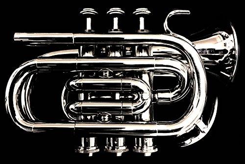 Britischer Design-Klassiker BB Pocket Kornett. Traditionelle Kornett Design, nicht Trompete.