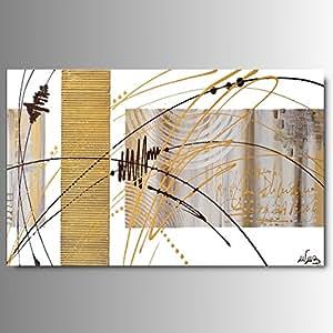 Art mmb honey oro 1 quadri moderni astratti toni del for Amazon quadri moderni astratti