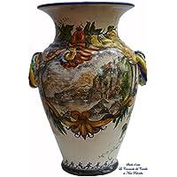 Portaombrelli Paesaggio Ceramica Realizzato e Dipinto a Mano Ogetto d'arte Pezzo Unico Le Ceramiche del Castello Made in Italy
