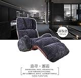 Private home textiles Fußboden Stuhl,Tatami-matten Sofa faul,Arm Mini Sofa,Multi-Datei-Einstellung Lehne Stuhl Person Perfekt, Lesen und anschauen von TV-Kissen-Grau