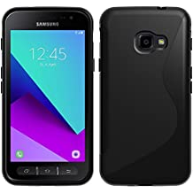 Samsung Galaxy Xcover 4 SM-G390F Caso HCN PHONE S-Line TPU Gel Silicona Carcasa flexible para Samsung Galaxy Xcover 4 SM-G390F - NEGRO