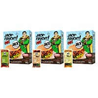JACK-FRUCHT PUR BISSFEST! junge Jackfrucht, vakuumiert, 3er Pack (3 x 350 g Beutel) & 3 Sorten JACK-Marinaden in den Geschmacksrichtungen AIOLI; BBQ und MEDITERRAN (3 x 60 g Beutel)