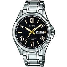 Casio MTP-1377D-1AVEF - Reloj para hombres, correa de acero inoxidable color plateado
