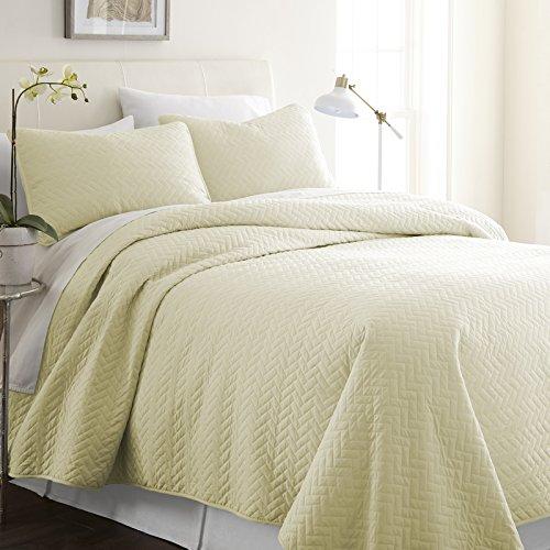 Simply Soft SS-Qlt-DA-K-GR Bettwäsche-Set für King-Size-Bett/California King Size, Grau Modern King Herring Yellow -