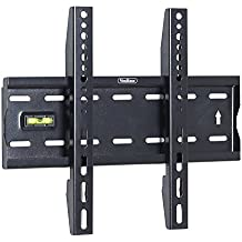 """VonHaus - Soporte de pared para TV de 15""""-42"""" Fijo Ultra Delgado, Peso Máx. 40kg Super Fuerte, VESA Máx. 300x200, color negro"""
