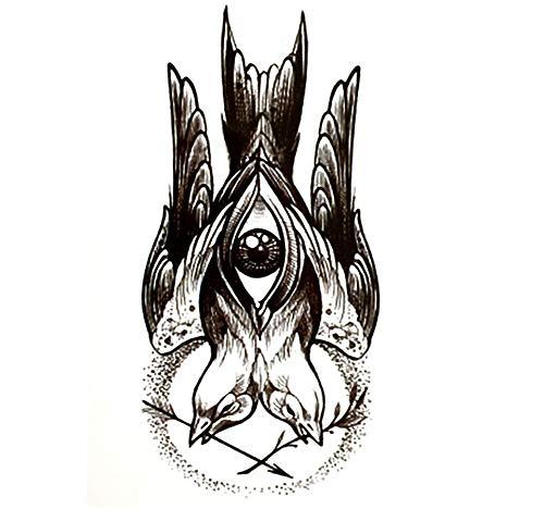 ruofengpuzi Krieg Und Friedenstauben-Frieden 4Pcs Wasserdicht Temporäre Tätowierung Männer des Harajuku Augen Make-Up Falscher Jesus Tattoo Ärmel Tätowieren