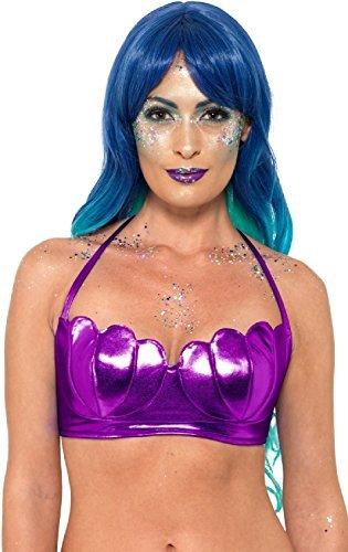 Meerjungfrau Mythisch magische Hülle Bikini Maskenkostüm BH Top Karneval Festival Junggesellinnenabschied TV Buch Film UK 6-14 (Kleine Meerjungfrau Kostüm Damen)