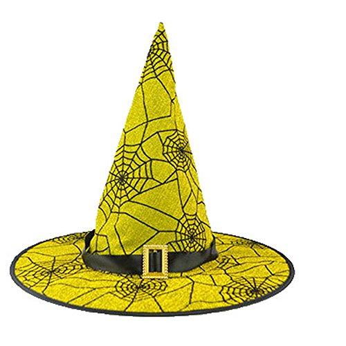 Tagether 2018 Halloween Hexenhut Schwarzer Hexen-Hut der erwachsenen Kostüm Zusatz Kappe Print Mode Verkleiden Sich Skeleton Muster Geisterparty Festival Obligatorisch Perfekt FüR Die Ferienzeit