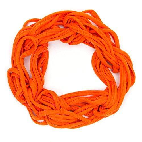 MANUMAR Loop-Schal für Damen einfarbig   feines Hals-Tuch in neon orange als perfektes Frühling Sommer Accessoire   Schlauch-Schal   Damen-Schal   Rund-Schal   Geschenkidee für Frauen und Mädchen