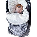 Saco de Dormir Manta Envolvente de Invierno para Bebé Recién Nacido Swaddle Wrap Manta Unisex para Cochecitos, Cunas, Sillas de Paseo para Bebé de 0-12 meses, 62cmx48cm