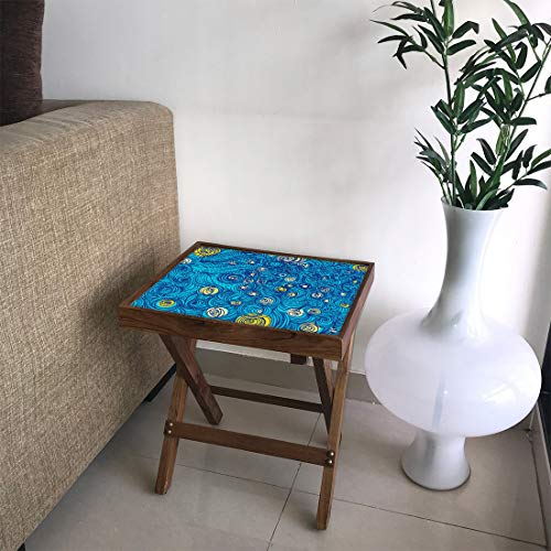 Nutcase Starry Night End Table (Matte Finish)