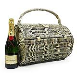 Traditioneller 'Harrington' Picknickkorb Für 2 Personen Mit Moet et Chandon Champagner - Ideale Geschenkidee zum Geburtstag, Hochzeit, Ruhestand