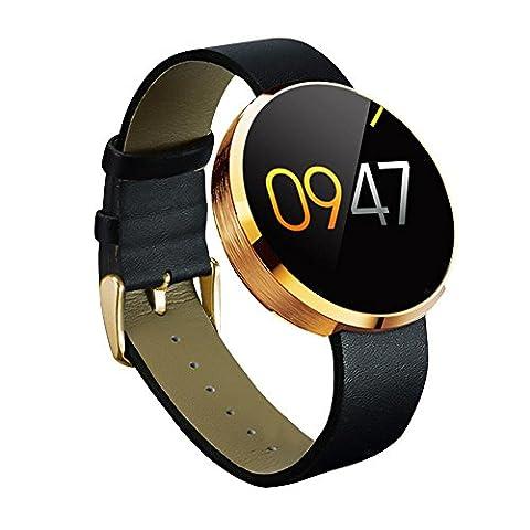 KOBWA Fashion Elegant DM360 Bluetooth Smart Watch with 1.22'' Round