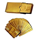 billionBAG Gold Plated Playing Cards For Magic, Poker, Teen Patti, Nightout Fun, Timepass (No.5_bb, Golden)