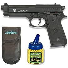 Pack Pistola airsoft Taurus PT92 BAX. Corredera metalica. Calibre 6mm + Funda Portabalines + Biberon 1000 bolas