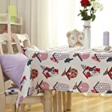 LD&P Tovaglie stampate Tavolino da pranzo Tavolo da pranzo Tavolo da pranzo Tovaglia decorativa Tessuto in poliestere Party multifunzione Camping Tovaglia da picnic,white,60*60cm
