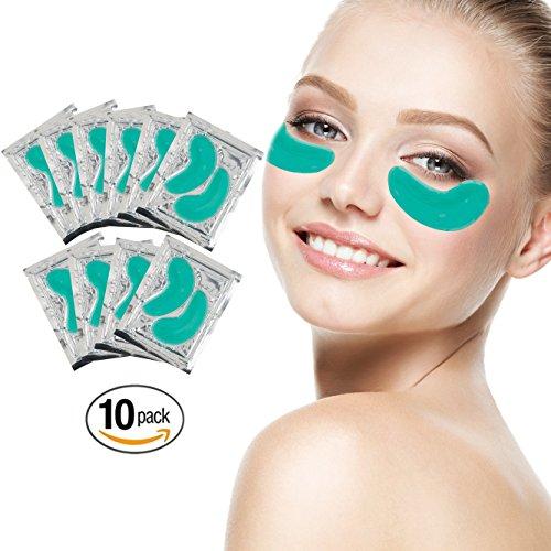 10 Paare Grüne Aloe Vera Kollagen Gel Kristall Augen Masken Feuchtigkeit Haut Straffend