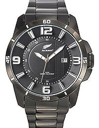 All Blacks - 680187 - Montre Homme - Quartz Analogique - Cadran Noir - Bracelet Métal Noir