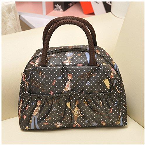 Fortuning's JDS® Le donne della moda multicolore borsa borsa tote stampato ragazze nere