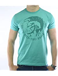Diesel - Tee shirt col rond manches courtes - Homme - Turquoise L