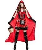 Honeystore Damen's Halloween Kostüm Damenkostüm böse Rotkäppchen Kostüm Fasching Karneval Damenkostüm Karneval Kostüme Damen Cosplay Kleid mit Umhang M