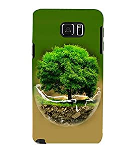 printtech Globe Tree Concept Nature Back Case Cover for Samsung Galaxy Note 5 N920