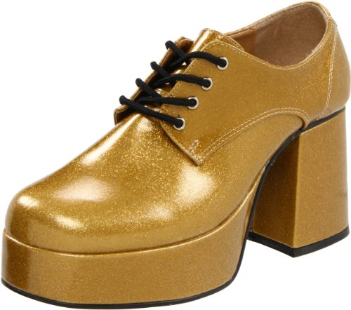 Pleaser JAZZ-02G, Herren Oxfords, Gold, 44 EU (11/12 - Mardis Gras Kostüm
