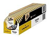 Sheba Katzenfutter Selection in Sauce für ausgewachsene Katzen - hochwertiges Nassfutter für Katzen / Geflügelhäppchen in Sauce / 36 Schalen (36 x 85 g)
