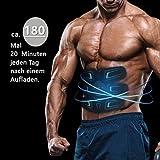 sakobs Muskelstimulator Bauchmuskeltrainer 2018 Muskelstimulation EMS Trainingsgerät mit 60 Stunden Akkulaufzeit/10 Intensitäten Muskeltraining zur Fettverbrennung und Muskelaufbau - 2