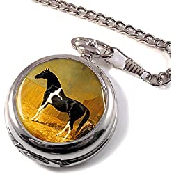 Pie-bald Horse by Herring Full Hunter Pocket Watch