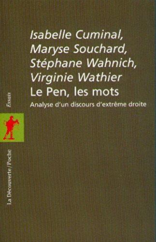 Le Pen, les mots. Analyse d'un discours d'extrême droite
