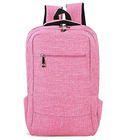 YAAGLE Unisex Leisure Solid Color Travel Outdoor Shoulder Bag Laptop Backpack for Man Women