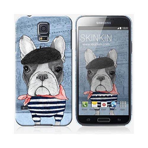 Coque iPhone 6 Plus et 6S Plus de chez Skinkin - Design original : French Bulldog in Arc de triomphe par Coque Samsung Galaxy S5