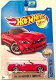 Hot Wheels 2017 Factory Fresh 2015 Ford Mustang GT Convertible Red 7/365 (Long Card)