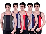 Zimfit Superb Gym Vests - Pack of 5 (GRN...