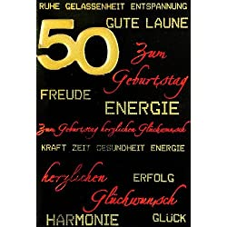 50. Geburtstag Glückwunschkarte Geburtstagskarte mit Zahl