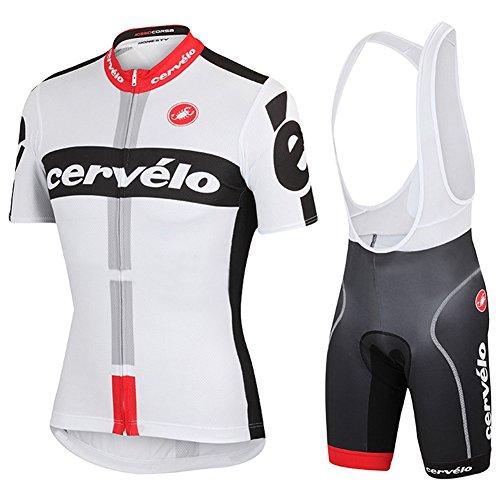 Strgao 2016 Herren Pro Rennen Team Cervelo MTB Radbekleidung Radtrikot Kurzarm und Tr?gerhose Anzug Bib shorts suit (Mountain Bike Bib Shorts)