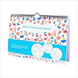 tiddler family & household planner | Weekly Family Organiser / Planner Calendar | Clever Layout in A4 Size | Space For 6 People & 1 Years Planning | Packed With Useful Features (Beach Design)
