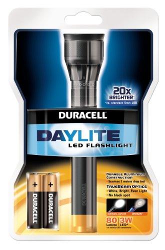 Preisvergleich Produktbild Duracell Daylite Taschenlampe inkl. 2x AA Batterien, schwarz gold