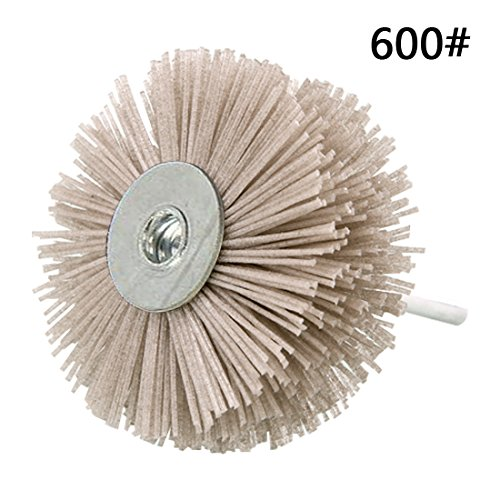 Abrasive Nylon Rad Pinsel Radial Polierbürste für Holz Möbel Mahagoni Finishing Metall Stein ODOD85mm 1 Stück Grau 600# (Nylon Finishing)
