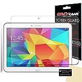 [Pack 2] Techgear® Samsung Galaxy Tab 410.1Zoll (SM-T530/SM-T535) Displayschutzfolie für Ultra Klar für Display LCD mit Reinigungstuch & Applikationskarte