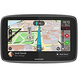 TomTom GO 6200 - Navegador 6 pulgadas, llamadas manos libres, Siri y Google Now, actualizaciones viaWi-Fi, traffic para toda la vida mediante tarjeta SIM y mapas mundiales, mensajes de smartphone