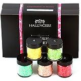 Hallingers Badesalz Mix Frauen-Power | Set/Mix | 5x Miniglas in MiniDeluxe-Box | 175g