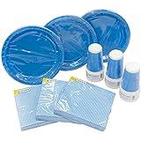 Heku 30005desechables de Set de fiesta con platos, vasos y servilletas, 120piezas, plástico, turquesa, 40x29x7 cm