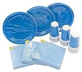 Heku 30005desechables de Set de fiesta con platos, vasos y servilletas, 120piezas, plástico,...