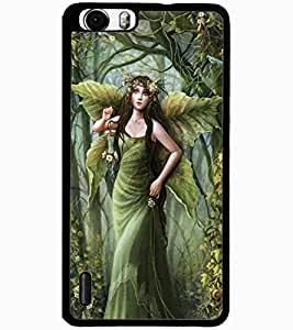 ColourCraft Graceful Angel Design Back Case Cover for HUAWEI HONOR 6 PLUS