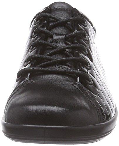 ECCO Soft 2.0, Scarpe Stringate Donna Nero(Black/Black 53859)