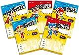 30Kinder Geburtstag Party Einladungen gelb Super Hero Mix Pack
