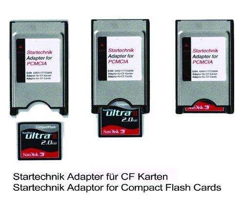 PCMCIA Compact Flash Adapter TYP I für Compactflashgeräte, CF GPS Empfänger, CF Speicherkarten für Beamer, Tachymeter, Projektoren, Laptop, PC und Karten CompactFlash (CF) auf PCMCIA Adapter.
