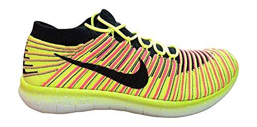 Nike Herren Free Rn Motion Flyknit Oc Laufschuhe Schwarz (Mehrfarbig / Multi-Color)